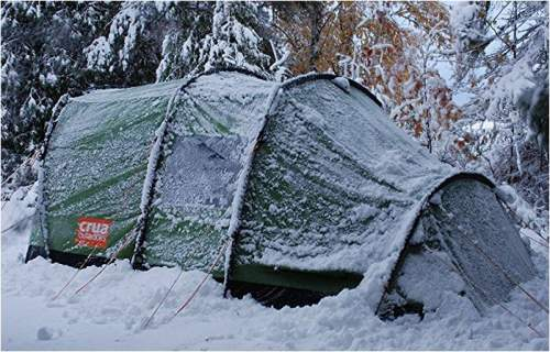 Crua Tri 3 tent used during winter time.