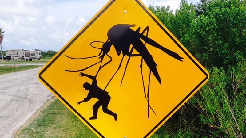 "a mosquito ""stay away"" sign"