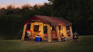 Northwest Territory has an impressive 10 man tent with porch area suitable for big families.