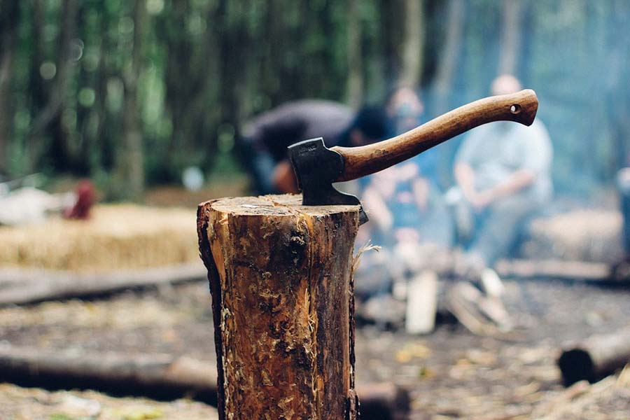 camping ax for beginners