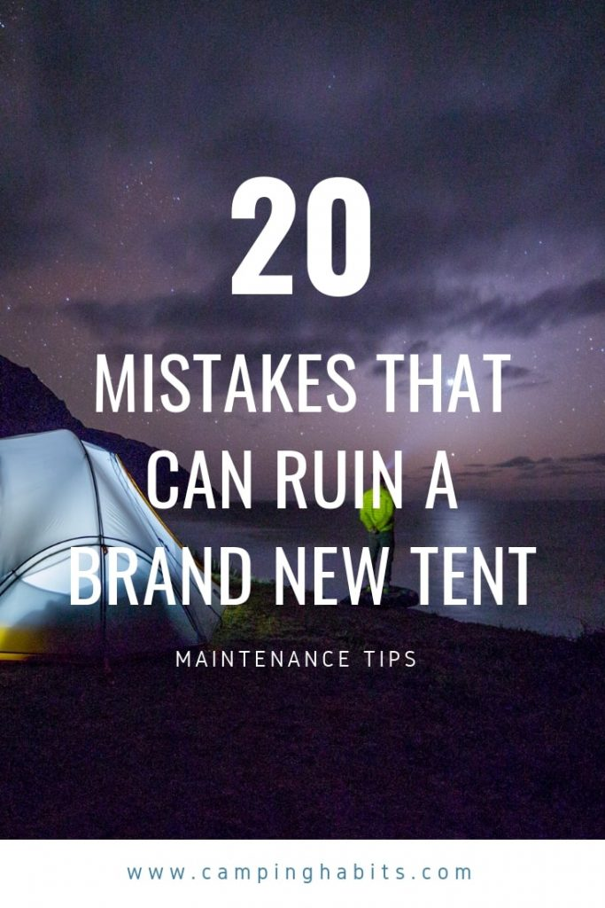 tent maintenance image for Pinterest