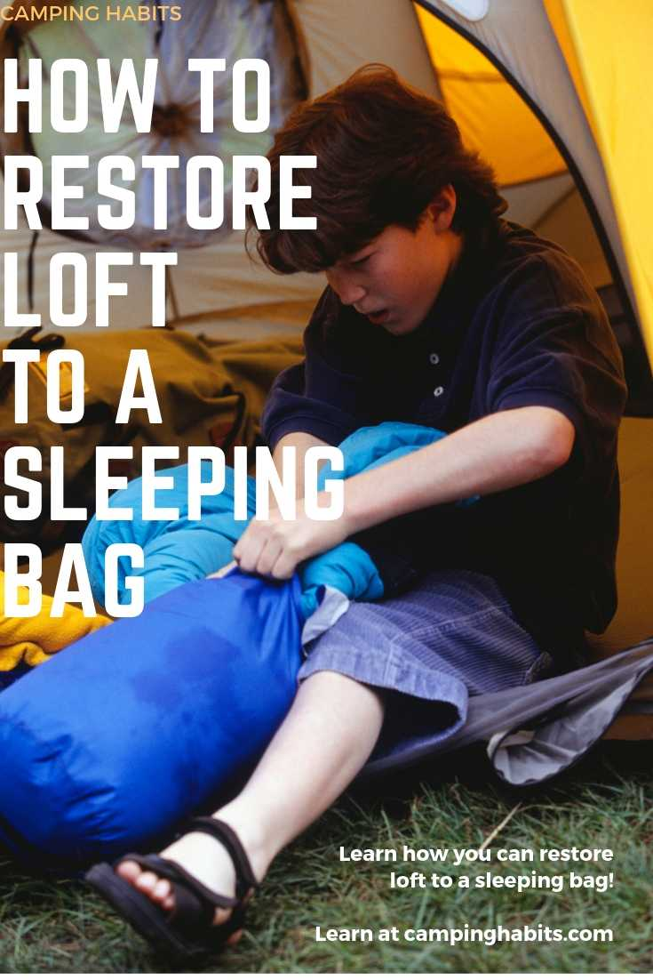camper trying to re-loft a down sleeping bag