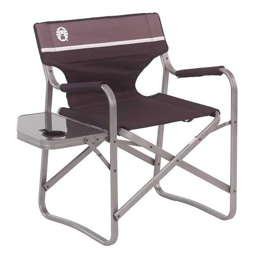 Folded coleman camping directors chair