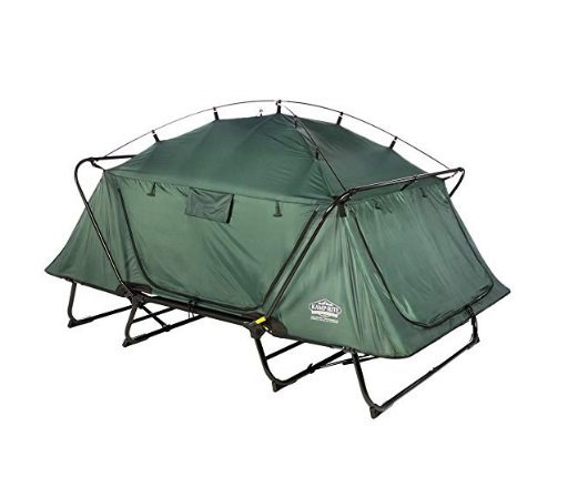 Fully pitched Kamp Rite double tent cot