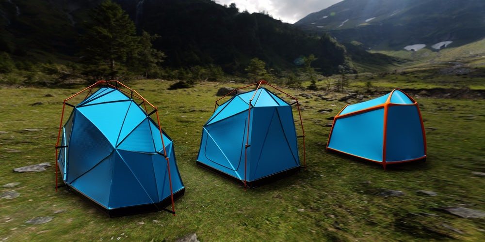 Bolt lightning proof tents during a thunderstorm