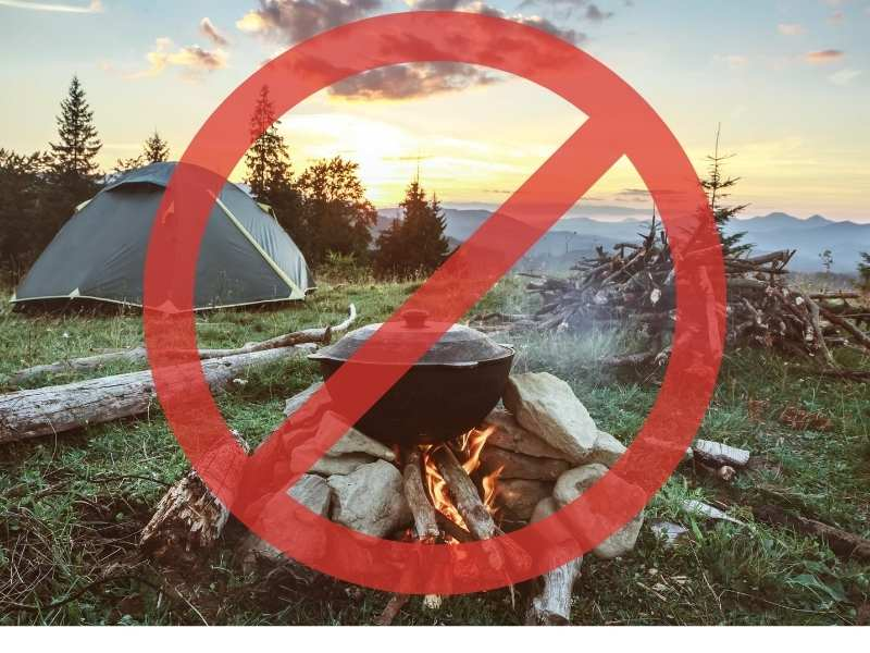don't go camping sign