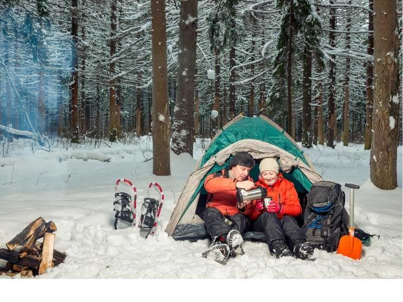 Stay hydrated during winter camping