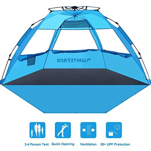 WhiteFang Deluxe XL Pop Up Beach Tent Sun Shade Shelter