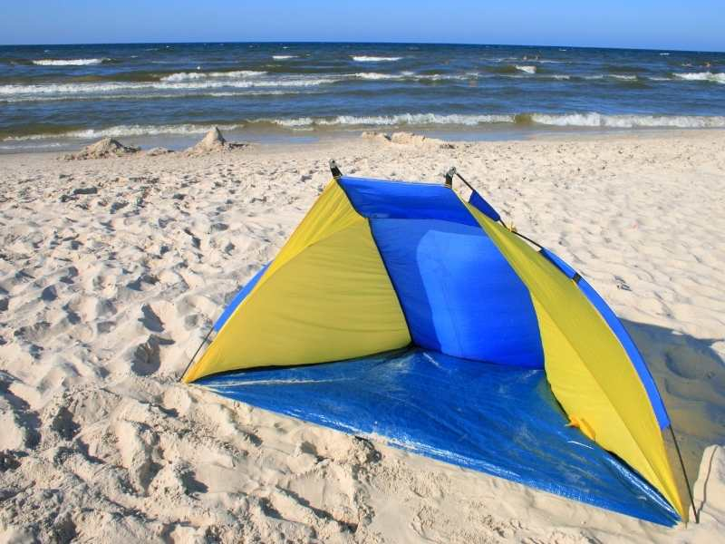 umbrella style beach tent for shade
